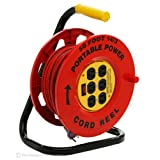 Designers Edge E-235 50-Foot Power Stations 14/3-Gauge Cord Reel with 6 Outlets