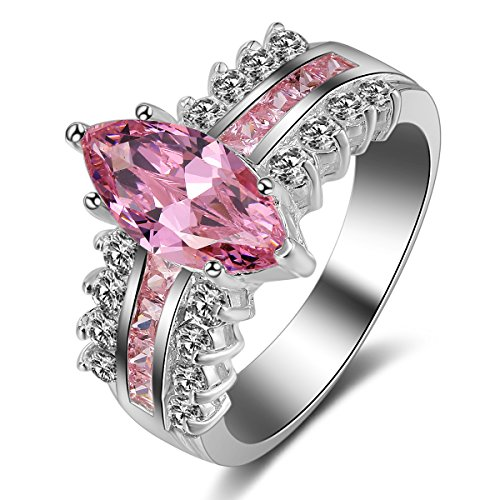 (Imagine Products .925 Silver CZ Marquise Engagement Ring (6))