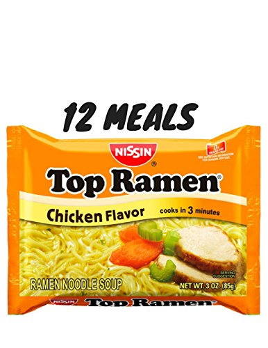 Nissan Top Ramen Chicken Noodle Soup 12 meals