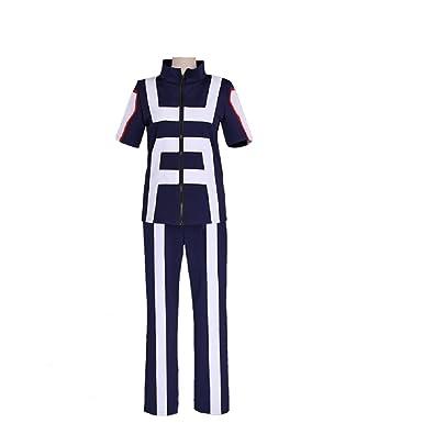 3c31914ca3ee Joyfunny Boku No Hero My Hero Academia Izuku Midoriya Costume Training Suit  Uniform Blue Female XS