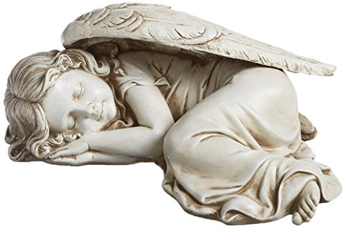 Joseph Studio 40070 Long Sleeping Girl Angel Statue, 11.75-Inch ()