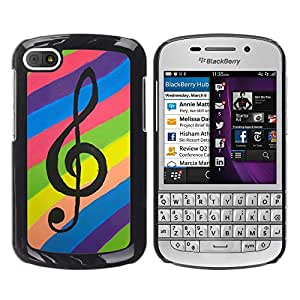 - Treble Clef Music - - Monedero pared Design Premium cuero del tir¨®n magn¨¦tico delgado del caso de la cubierta pata de ca FOR BlackBerry Q10 Funny House