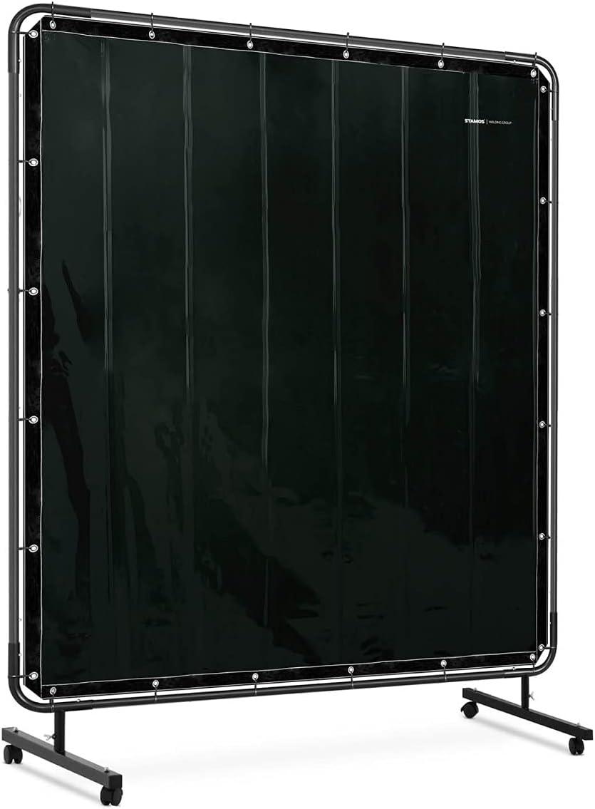 Stamos Germany Cortina De Protección Para Soldadura SWS05 (Dimensiones: 174 x 174 cm, Plástico de vinilo: 0,4 mm, Resistente a los rayos ultravioleta)