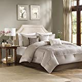 Madison Park Trinity Comforter Set, California King, Taupe
