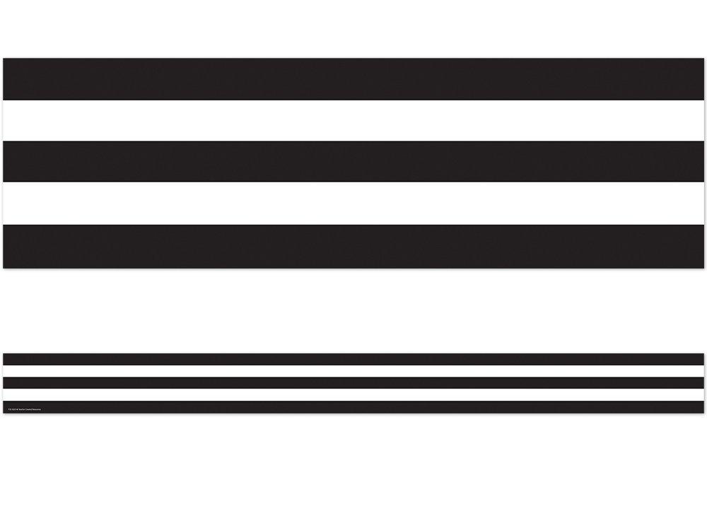Teacher Created Resources Black & White Stripes Straight Border Trim (5223) by Teacher Created Resources (Image #1)