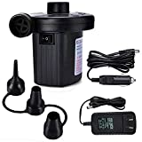 GLOSSE Electric Air Pump Air Mattress AC Pump for Inflatables Quick-Fill AC Inflator Deflator with 3 Nozzles AC 100V-240V(110V Supported) Blow up Pool Raft Bed Boat Toy Exercise Ball
