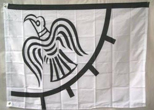 Viking Raven Flag 3x5 ft Banner Scandinavia Denmark Danish Norway Sweden (Sweden Ship)
