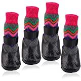 Anti-Slip Dog Socks Waterproof Outdoor Indoor Wear for Puppy Medium Large Dogs