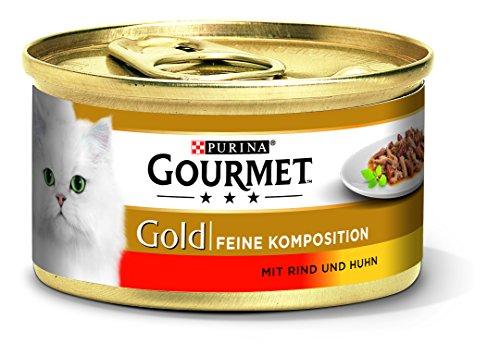PURINA GOURMET Gold Feine Komposition Katzenfutter nass, verschiedene Sorten 12er Pack (12 x 85g)