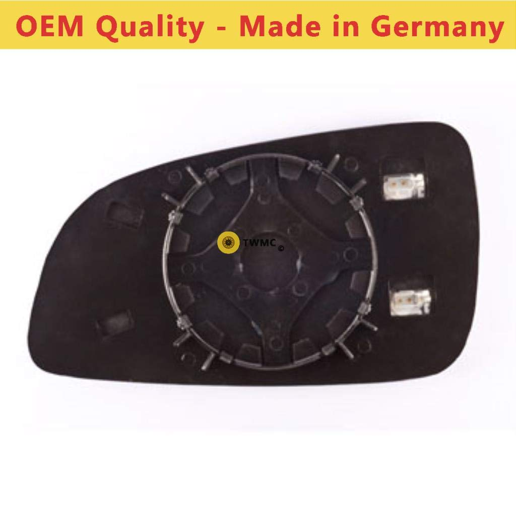 Silver Aspheric Wing Non Heated Driver Side Door Mirror Glass Including Base Plate RH