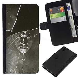 All Phone Most Case / Oferta Especial Cáscara Funda de cuero Monedero Cubierta de proteccion Caso / Wallet Case for Sony Xperia Z1 L39 // Black White Vintage Retro Photo