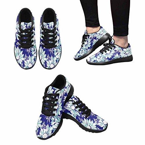 Interestprint Kvinnor Trail Löparskor Jogging Lätta Sport Gå Atletiska Sneakers Ganska Daisy Print Multi 1