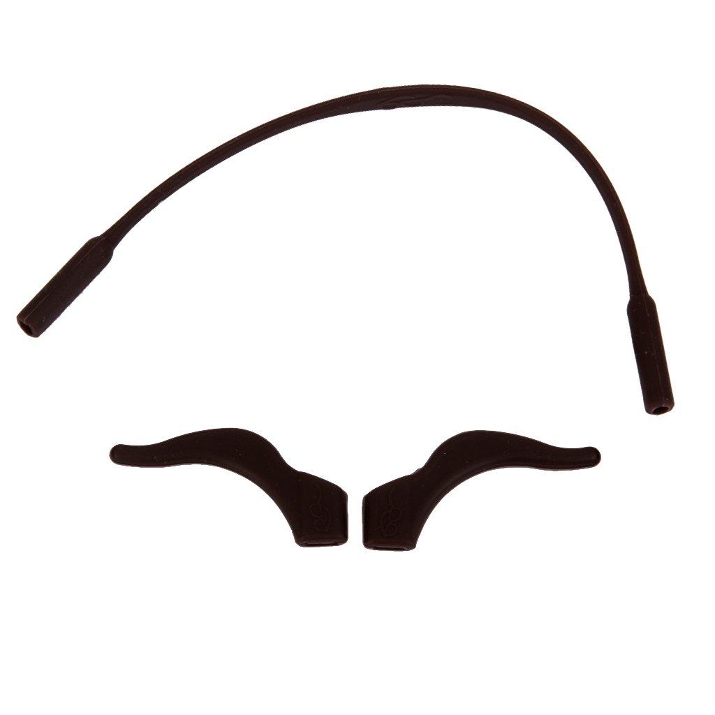 Kinder \ 's Sonnenbrillen Silikonbandbuegel + Anti Rutsch Ohrbuegel Halter Kaffee Unbekannt STK0114014352