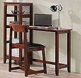 Brand New 48'' x 20.8'' x 46.2''H Desk and 16.8'' x 18.4'' x 31.4''H Chair Study Set with 4-Tier Rack - Espresso Finish