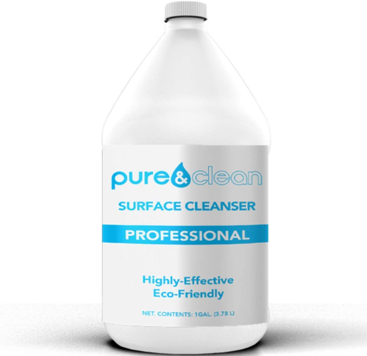 Pure & Clean Multi Surface Cleaner PRO - Hypochlorous Acid Cleaning Solution - Powerful & Non-Toxic - Used by Medical Professionals & Facilities - Electrolyzed Water & HOCl Formula (1 Gallon)