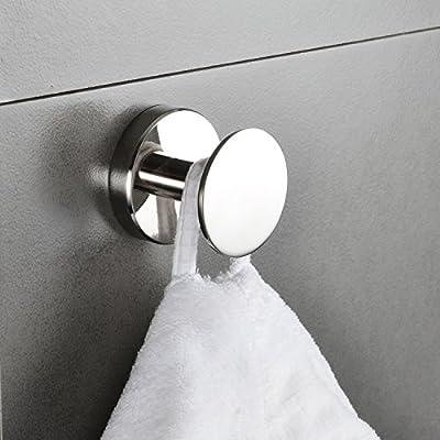 Amazon.com: Gancho grande de acero inoxidable toalla de baño ...