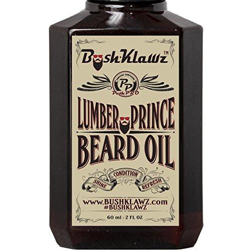 Lumber Prince Beard Oil Conditioner Premium Beard Moisturizer Manly Woodsy Musk Scent 2 oz – Best Lumberjack Beard Oil for Bearded Men