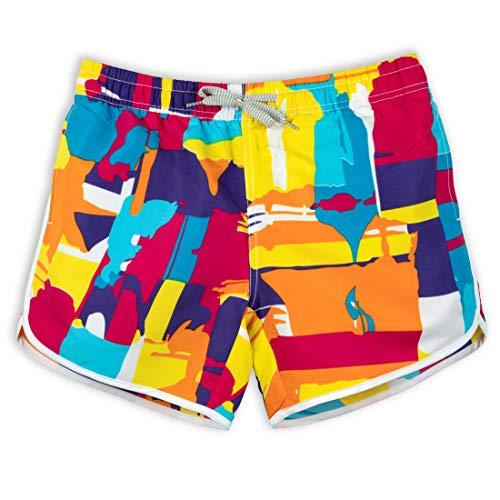 - Womens 3D Colorful Graffiti Printed Funny Swim Trunks Polyester Quick Dry Beachwear Sports Running Swim Board Shorts NO Mesh Lining Holiday Bermuda Casual Trousers Surfing Pants (M, Graffiti Yellow)