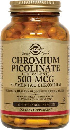 Solgar - picolinate de chrome, 500 mcg, 120 veggie caps
