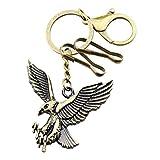 FOY-MALL Fashion Retro Eagle Alloy Men Women Bag Charm Keychain T1041