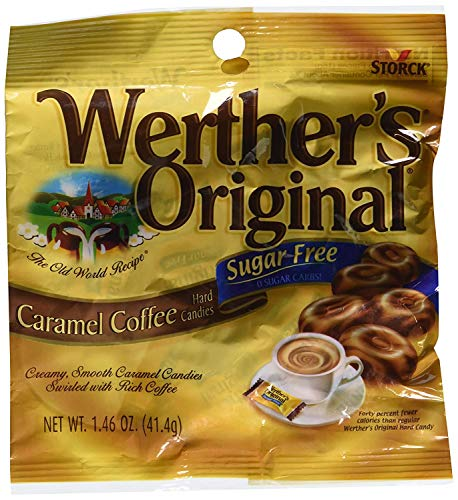 Werther's Original – Sugar Free – Caramel Coffee Hard Candies (Pack of 3) (3 bags) – PACK OF 2