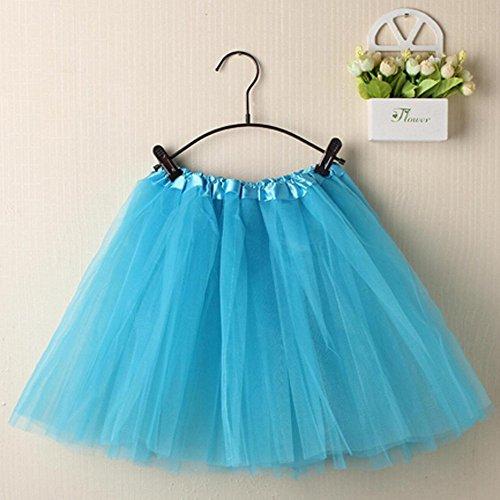 Robe 50 Ciel Pettiskirt POachers Jupe Tutu Bleu Femme Style Courte annes Couleurs Tulle 11 Rockabilly Petticoat Mini D'lastique Af8wHfqF