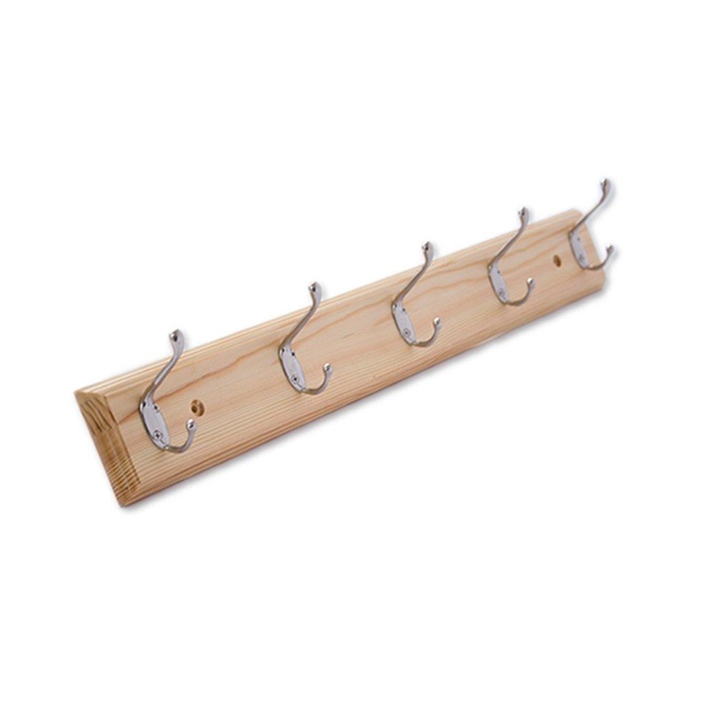 DIKE UK Appendiabiti a parete Hook Up Coat Appendiabiti Wall Wall Dopo la porta in legno massello Hangers Colore del legno (dimensioni : 50cm) ZZBBZZ-YJ