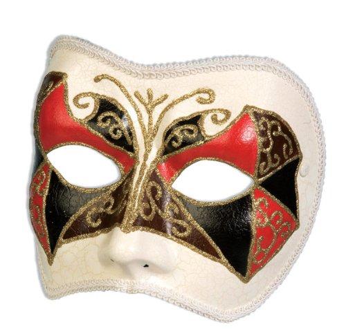 Gilded Tri-Color Venetian Half Mask (Venetian Half Mask)