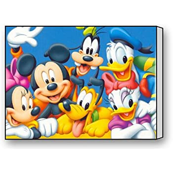 Mickey MouseDisneyland Pattern Canvas Wall Art Print 12 X 16 Inch