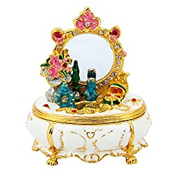 Dressing Table Hand Painted Enamel Jewelry Box