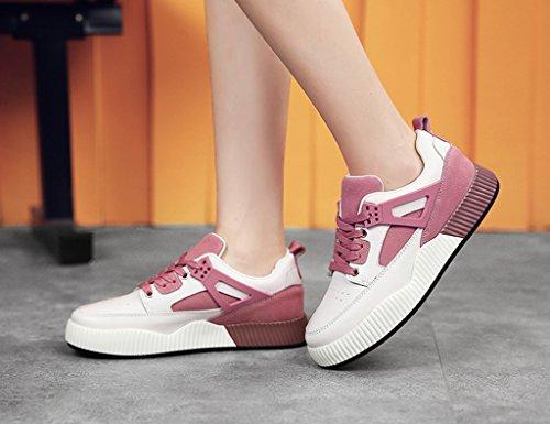femenina planos funcionamiento Gris primavera gruesa zapatos ocasionales plataforma zapatos la para inferior mujer de de HWF oscuro zapatos Color de Tamaño Zapatos mujer Pink de Deportes las mujeres S8XfYn