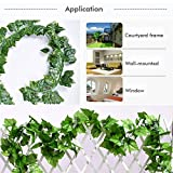 CQURE 12 Pack 84 Ft Ivy Garland,Greenery Leaf