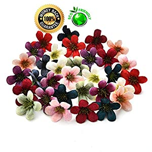 Silk flowers in bulk wholesale Fake Flowers Heads Mini Daisy Artificial Flowers Silk Roses Heads Wedding Decoration Party Fake Scrapbooking Floral Wreath Home Accessories 100pcs/lot 4cm (Multicolor) 98