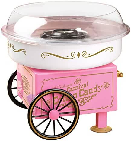 Nostalgia Electrics Vintage Hard and Sugar-Free Candy Cotton Candy Maker, Small Appliance