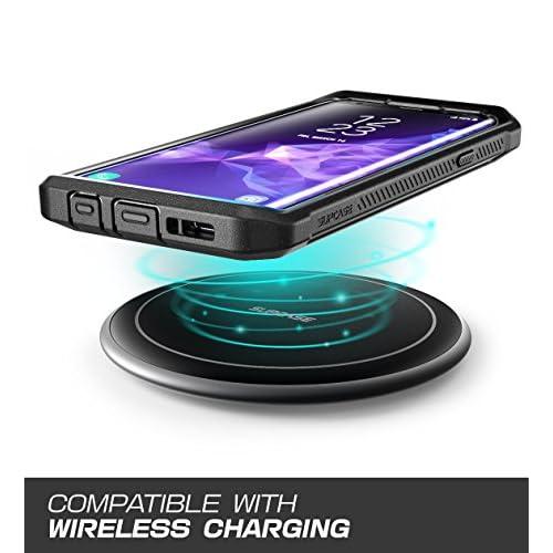 Supcase Unicorn Beetle Pro Series, Funda con Protector de Pantalla Integrado para Samsung Galaxy S9 + Plus (2018 Release), Negro,Paquete al por Menor