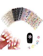 Chenkaiyang 90 Sheets Nail Art Stickers 3D Design Self-adhesive Transfer Decals Mix Color Manicure Beautiful Fashion Accessories Decoration