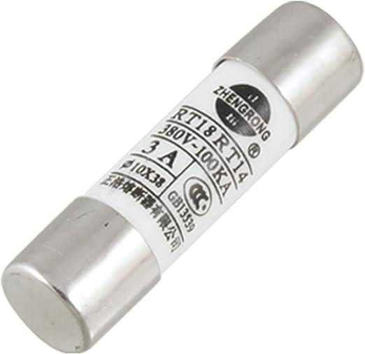 Amazon.com: uxcell 5 x 380 V 3 A 10 x 38 mm. cilíndrico Caps ...