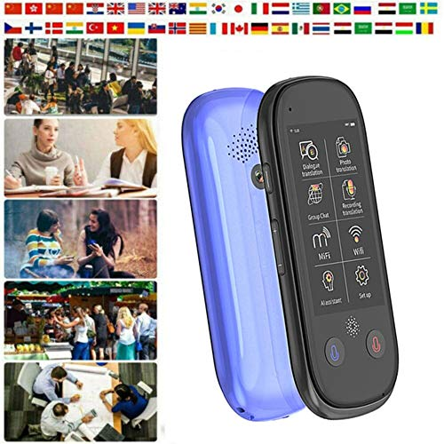 FUTN Language Translator Device with High Definition Touch Screen Support 75 Languages Accurate Smart Real-Time Instant for Business Chat Travel Abroad (Color : Black)