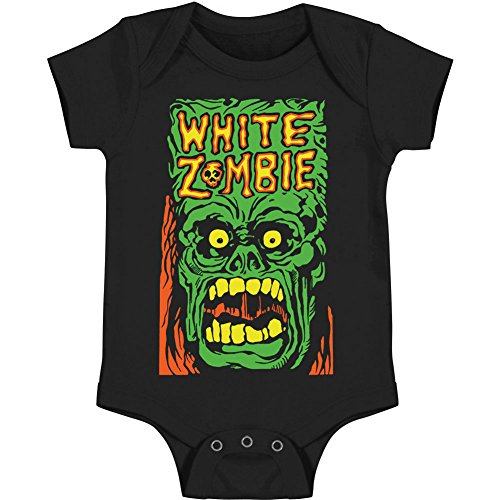 White Zombie Baby Boys' Monster Yell Bodysuit 6 - 12 Months Black (Clothes Baby Zombie)
