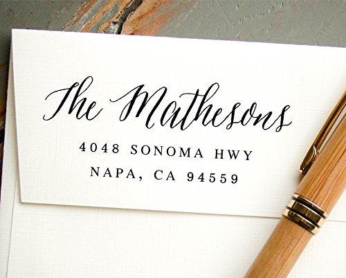 amazon com hand calligraphy self inking address stamp pre inked