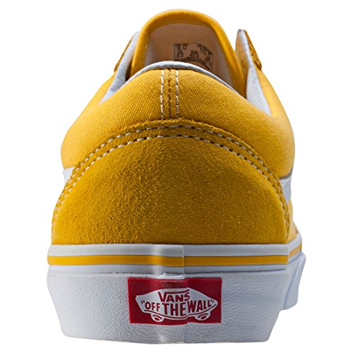 43e731bc9f41e2 Vans Unisex Old Skool (Suede and Canvas) Spectra Yellow and True White  Leather Sneakers - 5 UK India (38 EU)  Buy Online at Low Prices in India -  Amazon.in