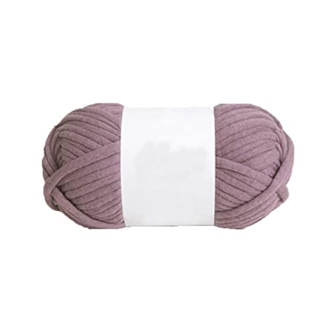 Ovillo de lana para tejer a mano, color lila, 100 g: Amazon ...