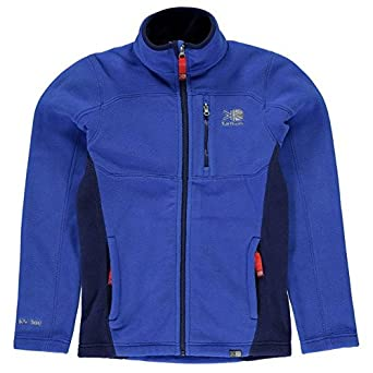 24e96afe1 Karrimor Kids Fleece Jacket Junior Girls Thermal Warm Up High Neck ...