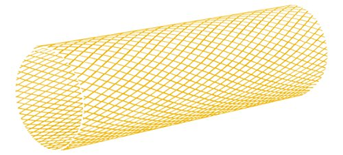 Protective Netting - Various 1'' to 2'' Dia Round Plastic Netting, Yellow, 164-ft Roll MOCAP MCN-06 (qty1) by MOCAP