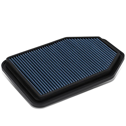Wrangler Jeep Air (For Jeep Wrangler 3.6L / 3.8L Reusable & Washable Replacement High Flow Drop-in Air Filter (Blue))
