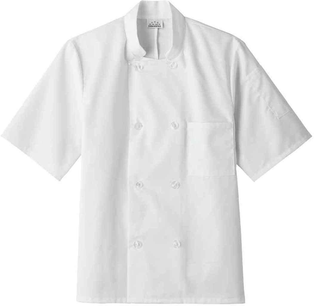 Five Star 18001 Unisex Short Sleeve Chef Jacket (White, Medium) by Five Star