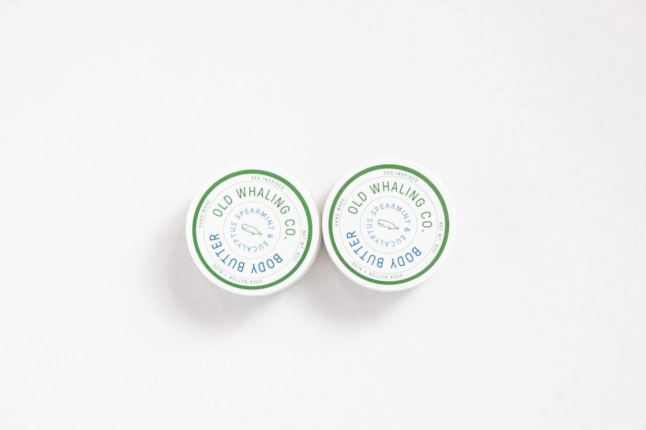 TWO Spearmint + Eucalyptus Body Butters || handmade lotion/shea butter/aloe / paraben and mineral oil free/moisturizing / best seller