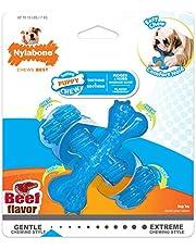 NYLABONE Puppy X Bone Small Beef Flavored Chew Toy