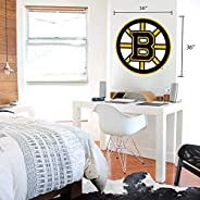 Boston Bruins 36x36 Team Logo Repositionable Wall Decal