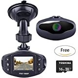NZACE 1080P Mini Car Camera / Dash Cam / Driving Recorder with Sony Sensor, 650NM Lens, Wide Angle Len,WDR, Loop Recording, Motion Detection, Park Monitor and Night Vision with 16 GB Micro SD SD Card
